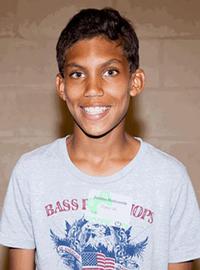 Justin H   Age 14